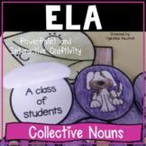 Collective Nouns PowerPoint and Craftivity   Distance Learning