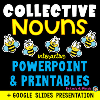Collective Nouns PowerPoint and Worksheets