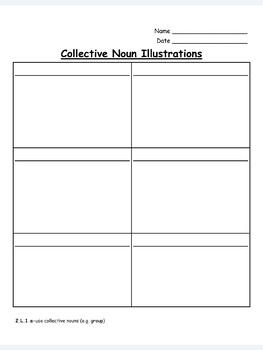 Collective Nouns Practice-EDITABLE! (second grade)