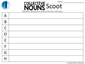 Collective Nouns Scoots (2 games)