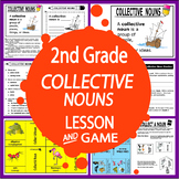 Collective Nouns Activities + Lesson, COLOR Game, Collective Nouns Workheet