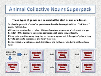 Collective Nouns (Animals) Superpack - 7 game pack
