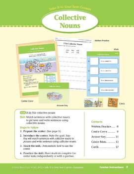 Collective Nouns (Take It to Your Seat Centers: Common Core Language)