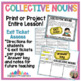 Collective Nouns Pack: anchor chart poster, activity center, worksheet