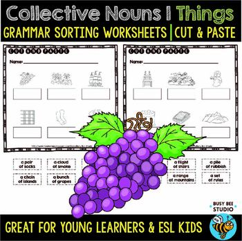 Collective Nouns (Things) | | Cut and Paste Worksheets
