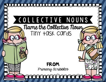 Collective Nouns Tiny Task Cards