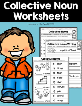 Collective Nouns Worksheets (Common Core L.2.1.a)