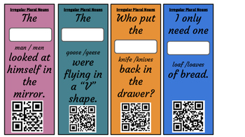 Collective Nouns and Irregular Plural Nouns: QR codes