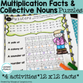 Collective Nouns and Multiplication Facts Puzzles