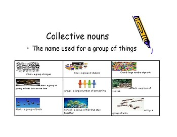 Collective Nouns poster with examples