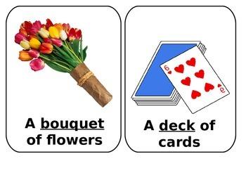 Collective noun photo cards