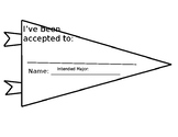 College Acceptance Pennant for Seniors (ATT: Display Pic is Distorted)