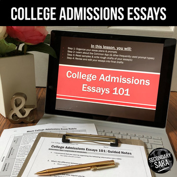 College Admissions Essay/Personal Statement: 1-Week Writing Unit (2017-18)