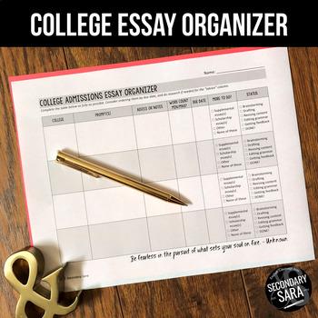 College Admissions Essays: FREE Prompt Organizer