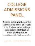 College Admissions Panel Group Activity