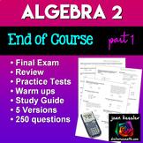 Algebra 2 College Algebra Final Exam or Review
