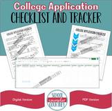 College Application Checklist & Tracker - Digital & PDF