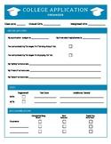 College Application Checklist and Organizer