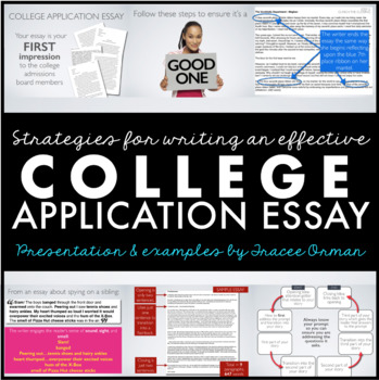 College Application Essay - Personal Essay Editable Tutorial