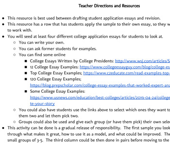College Application Essay Sample Analysis