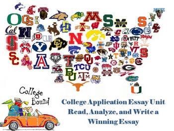 College Application Essay Unit - Read, Analyze, Write