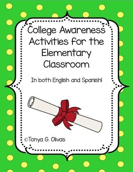 College Awareness Activities--English and Spanish Bundle