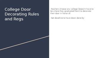 College Awareness Door Decrorating Guidelines