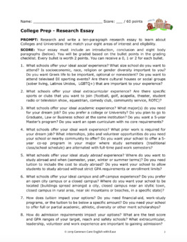 College Awareness Research Project - NO PREP Fun College Research Activities!