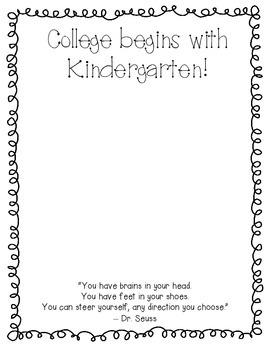 College Begins with Kindergarten frame for Kinder Graduation