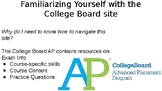 College Board AP Website Guided PowerPoint for Scavenger Hunt