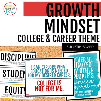 College & Career Readiness Growth Mindsets Bulletin Board