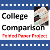 College Comparison Activity Folded Paper Project