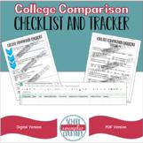 College Comparison & Decision Checklist & Tracker - Digital & PDF