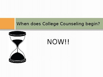 College Counseling Plan