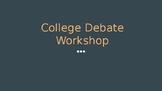 College Debate Powerpoint