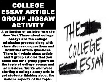 College Essay Article Group Jigsaw