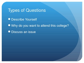 College Essay Assignment (Activity + PowerPoint)