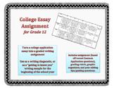 College Essay Assignment & Rubric