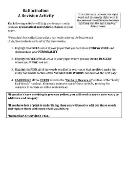 College Essay Editing & Revision Packet