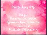 College Essay Editing Services