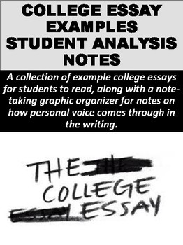 College Essay Examples Student Analysis Notes