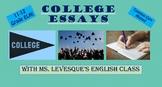 College Essay Peer Edit & Rubric