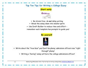 College Essay Tips
