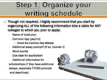 College Essay Overview Presentation