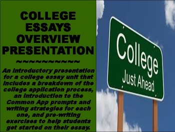 College Essay Unit Overview