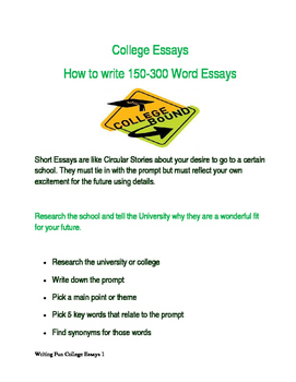 College Essay Writing