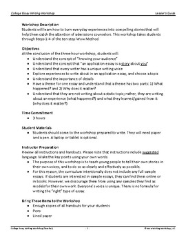 College Essay Writing Part 3 - Pre-writing and Drafts
