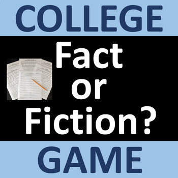 College Exploration and Planning Game - Fact or Fiction?