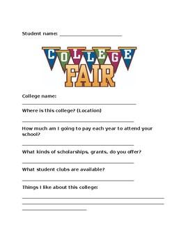 College Fair Questionnaire