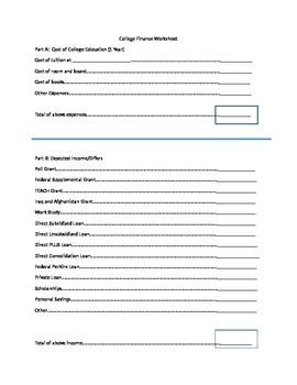 College Finance Worksheet